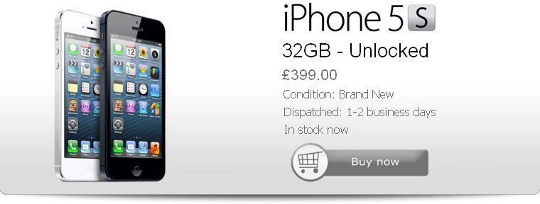 Buy Cheap iPhone 5S 32gb Black Unlocked NEW